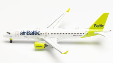 Herpa Wings airBaltic Airbus A220-300 new livery 100th A220 YL-AAU Scale 1/400 562751