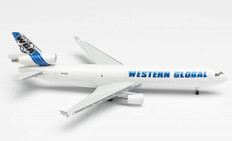 Herpa 500 Western Global Airlines McDonnell Douglas MD-11F-N412SN Scale 1/500 535434