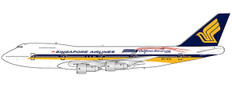 JC Wings Singapore Airlines Boeing 747-200 9V-SIA With Antenna Scale 1/400 JCEW4742001