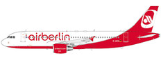 JC Wings Air Berlin Last Flight Airbus A320 With Stand Scale 1/200 JCLH2201