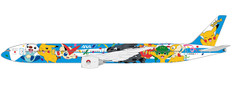 JC Wings All Nippon Airways Boeing 777-300 Pokemon Livery Flap Down Reg: JA754A With Stand Scale 1/200 JCEW2773001A
