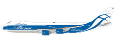 JC Wings Air Bridge Cargo Pharma Title Boeing 747-8F VP-BBL With Stand 1/200JC2290