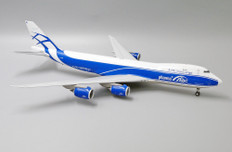 JC Wings Air Bridge Cargo Pharma Title Boeing 747-8F VP-BBL With Stand 1/200 JC2290