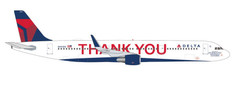Herpa 500 Delta Air Lines Thank you Airbus A321 N391DN Scale 1/500 535519