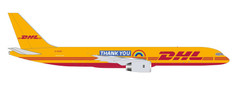 Herpa 500 DHL Thank you Boeing 757-200F G-DHKF Scale 1/500 535526