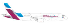 Herpa 500 Eurowings Fuelled By The World's Greatest Team Airbus A320 D-AIZS Scale 1/500 535533