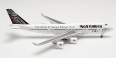 Herpa 500 Iron Maiden Ed Force One Book of Souls Tour Boeing 747-400 TF-AAK Scale 1/500 535564