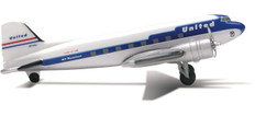 Herpa 500 Clay Lacy Aviation / United Airlines Douglas DC-3 Scale 1/500 510431