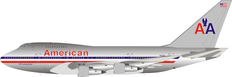 Inflight 200 American Airlines Boeing 747SP-31 N601AA polished with stand Scale 1/200 IF74SPAA1021P