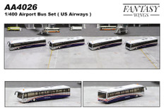Fantasy Wings Airport Accessories Airport Bus US Airways Set of 4 Scale 1/400 AA4026