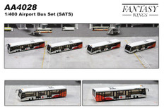 Fantasy Wings Airport Accessories Airport Bus SATS Set of 4 Scale 1/400 AA4028