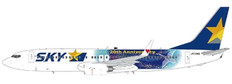 JC Wings Skymark Airlines Boeing 737-800 20th Anniversary JA73NQ with Stand Scale 1/200 EW2738011