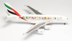 Herpa Wings Emirates Year of Tolerance Airbus A380 A6-EVB Scale 1/200 571692