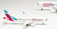 Herpa Wings Eurowings Teamflieger Airbus A320 D-AIZS Scale 1/200 571838