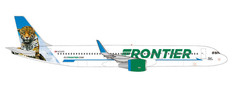 Herpa 500 Frontier Airlines Airbus A321 N712FR Spot the Jaguar Scale 1/500 535847