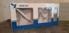Twinpack 2 Iran Air Cargo B747-100 & 707 EP-ICC & EP-IRK with ground services Scale 1/400