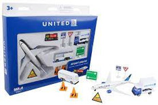 United Airlines toy airport playset RT6261
