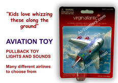 Virgin fun plane with lights and sound