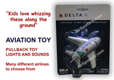 Delta Airlines fun plane with lights and sound