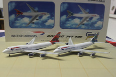 Gemini Jets British Airways Boeing 747-400 twin pack Scale 1/400 1/400 GJBAWSET2