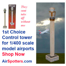 1st Choice Authentic Airport Control Tower Scale 1/400