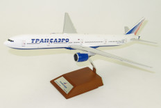 JC Wings Transaero Boeing 777-300 EI-UNM with stand Scale 1/200 JCLH2049