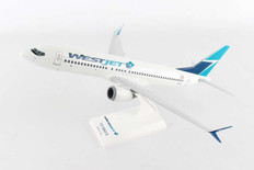 Skymarks Westjet Boeing 737-MAX8 with stand Scale 1/130 SKR919