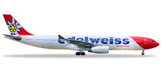Herpa Wings Edelweiss Air Airbus A330-300 HB-JHQ Scale 1/200 558129-001