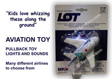 Lot fun plane with lights and sound
