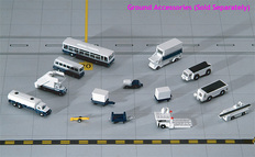Gemini Jets Airport Vehicles Set Scale 1/400 GJARPTSETA