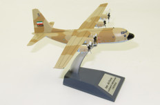 J Fox Iran Air Force  Hercules C130E 5--8508 with stand Scale 1/200 JFC130028