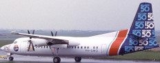 JC Wings House Color Fokker 50 PH-DMO With Stand Scale 1/200 JCLH2213