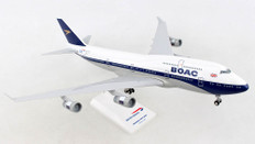 Skymarks British Airways BOAC Boeing 747-400 G-BYGC 100 year anniversary with stand Scale 1/200 SKR1015