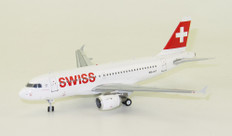 J Fox models Swiss International Air Lines Airbus A319-112 HB-IPT With Stand Scale 1/200  JF-A319-002