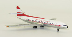 Inflight 200 Austrian Airlines SUD SE-210 Caravelle VI-R OE-LCE with stand Scale 1/200 IF210OE0919P
