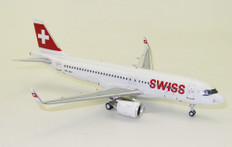 J Fox Models Swiss International Air Lines Airbus A320-271N HB-JDA with stand Scale 1/200 JFA320026