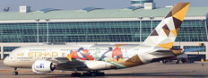 JC Wings Etihad Airways Choose South Korea Airbus A380  A6-APG With stand Scale 1/200 JC2431