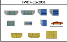 Fantasy Wings Airport Accessories Cargo add-on Set Diecast, Set of 11 Scale 1/200 FWDP-CG-2001