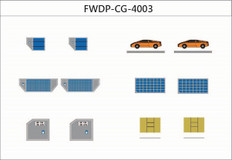 Fantasy Wings Airport Accessories Cargo add-on Set Diecast, Set of 12 Scale 1/400 FWDP-CG-4003