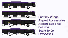 Fantasy Wings Airport Accessories Airport Bus Thai Set of 4 Scale 1/400 FWAA4019
