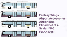 Fantasy Wings Airport Accessories Airport Bus Etihad Set of 4 Scale 1/400 FWAA4005