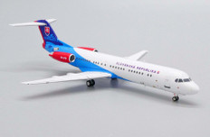 JC Wings Slovakia Government Flying Service Fokker 100 OM-BYB With Stand Scale 1/200 JCLH2241