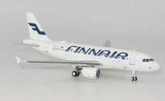 J Fox Models Finnair Airbus A319-112 OH-LVL With Stand Scale 1/200 JFA319006