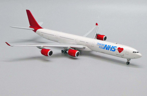 JC Wings Maleth Aero Thank you NHS Airbus A340-600 9H-EAL with antenna Scale 1/400 JC4452