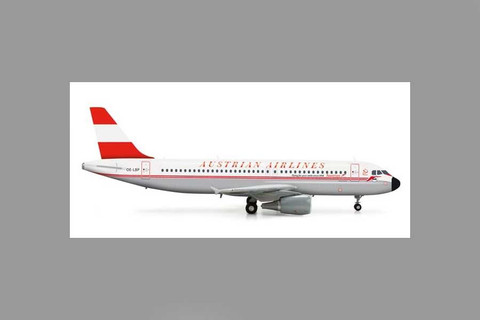 """Herpa Austrian Airlines Airbus A320 """"50th Anniversary retro""""c Scale 1/200 555708"""