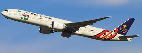 JC Wings Saudi G20 livery Boeing 777-300 HZ-AK42 with  antenna Scale 1/400 JC4463