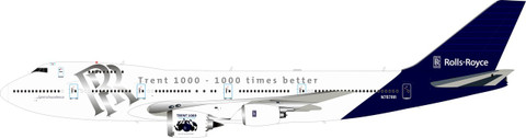 Inflight 200 Rolls Royce Boeing 747-267B N787RR with stand Scale 1/200 IF742RR01