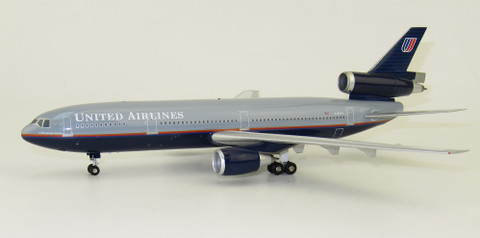 Inflight 200 United Airlines Douglas DC10-10 N1835U with stand Scale 1/200 IF101UA1119