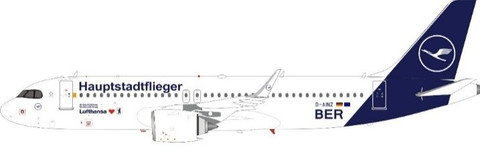 J Fox Lufthansa 'Hauptstadtflieger Livery' Airbus A320-272NEO D-AINZ with Stand Scale 1/200 JFA320041