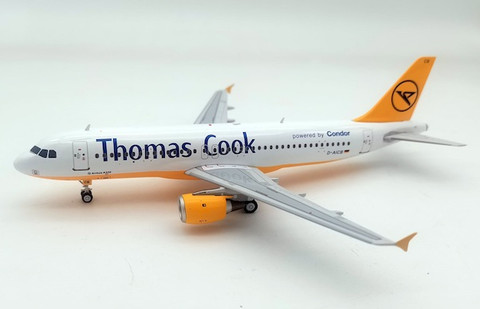J Fox Thomas Cook Airlines/Condor Airbus A320-212 D-AICB with Stand Scale 1/200 JFA320035